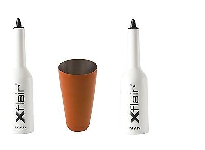 2 Flair Bottle Kit with White Tin Boston 28oz Balanced Orange