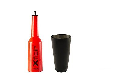 Flair Bottle Kit Red with Tin Boston 28oz Balanced Black