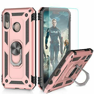 Case Huawei P20 Lite Ring Holder Kickstand Full Body Protect Silicone Rosegold