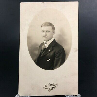 VINTAGE RPPC: DAPPER African-American Man In Suit And Hat  - $14 95