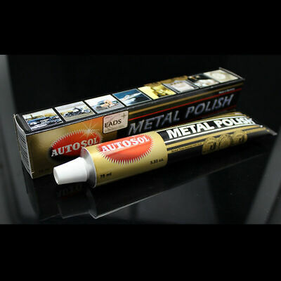 Autosol Solvol Chrome Polish/Cleaner Aluminium & Metal Paste Tube Car/ Bike75ml