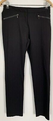 Girls Smart Black Stretch Trousers With Adjustable Waist Age 14-15 Years By F&F