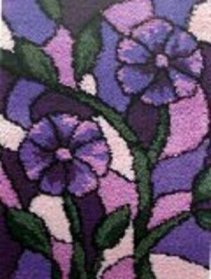 "Latch Hook Rug Kit""Purple Flowers"" 52x38cm"