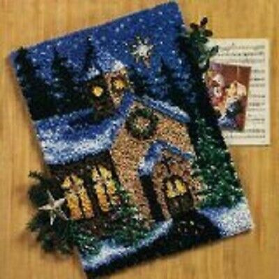 "Latch Hook Rug Kit""Winter Church"" 52x38cm"