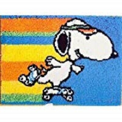 "Latch Hook Rug Kit""Snoopy on Skates"" 52x38cm"