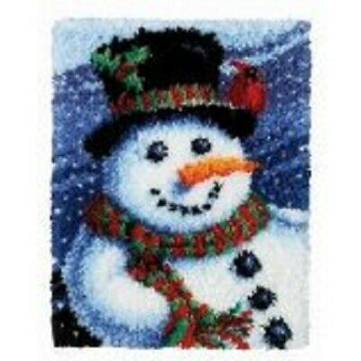 "Latch Hook Rug Kit""Snowman"" 52x38cm"