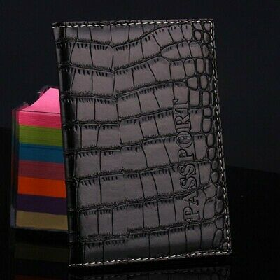 1pc Alligator embossing Passport Holder Protector Cover Wallet PU Leather Cover