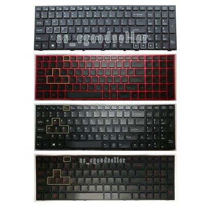 New For Clevo MP-13H86P0J430C 6-80-P65S0-150-1 Keyboard Color Backlit Portuguese