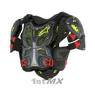 Alpinestars A10 Chest Protector Armour ACU CE Approved Anthracite Medium/Large