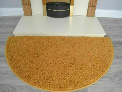 Gold Half Moon Rug Washable Non Slip Soft Fireplace Hearth Ochre Mustard