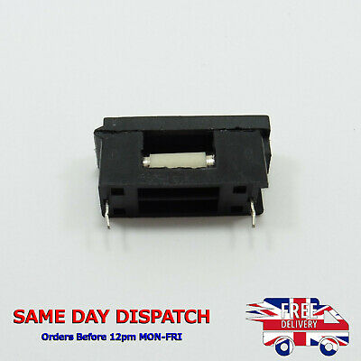 5mm x 20mm Fast Acting Ceramic Fuse + PCB Mount Fuse Holder BLX-A Quick Blow