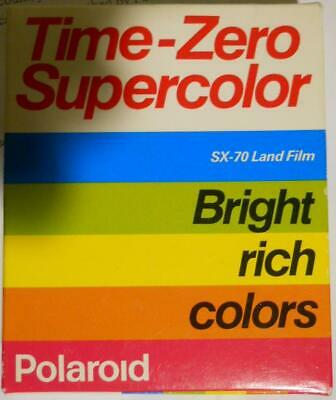 Polaroid Time-Zero Supercolor SX-70 Land Film Exp. 10/93
