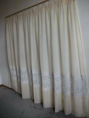 Quality French Sheer & Lace Large  Drape