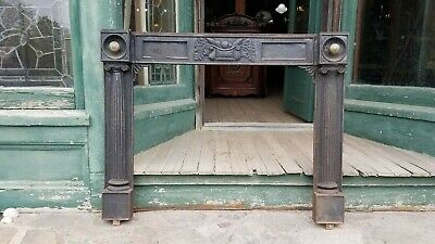 Victorian Cast Iron Fireplace Mantel