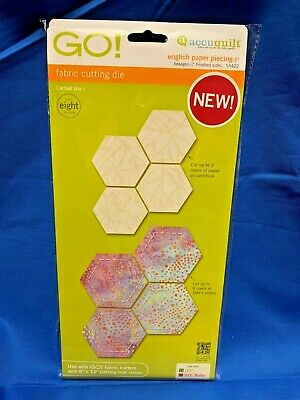 """Accuquilt GO! English Paper Piecing Hexagon-1"""" Finished Sides Die 55422"""