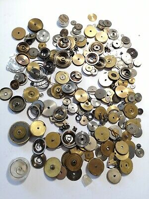 Job Lot Vintage Pocket Watch Mainspring Barrels - Some With Mainsprings (A39)
