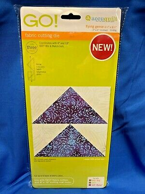 """Accuquilt GO! Flying Geese-3 1/2"""" x 6 1/2"""" (3"""" x 6"""" Finished) Die 55456"""