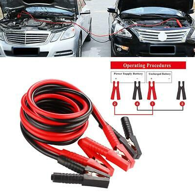 20Ft 1200Amp Heavy Duty Car Battery Jump Leads Cord Booster Starter Jumper Cable