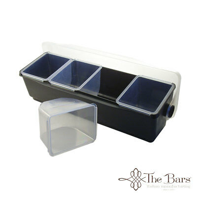 Condiment Holder or Condiments bar to 4 Pans Barman Bench