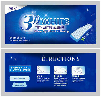 3D Professional Advanced Teeth Whitening Strips Tooth Bleaching White Strips