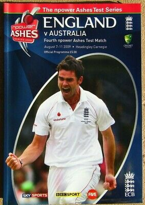 ENGLAND v AUSTRALIA 4th npower Ashes Test Match 7-11 Aug 2009 Cricket Programme