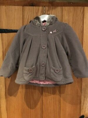 Next Lovely Girls Coat With Hood Age 2-3yrs In Excellent Condition