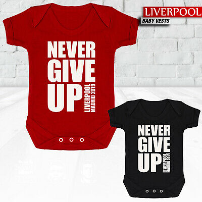 Liverpool - Never Give Up Madrid 2019 - Baby Vest Grow Suit