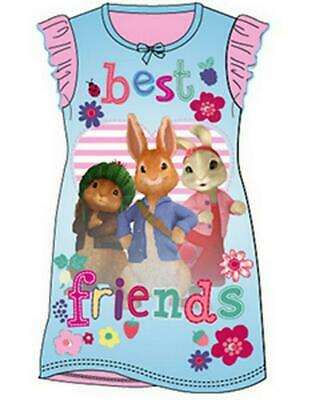 Girls Peter Rabbit Nightdress Peter Rabbit Nightie Girls Nightwear Age 2-8 Years