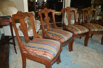 Dining Chairs Eastlake Victorian 1880