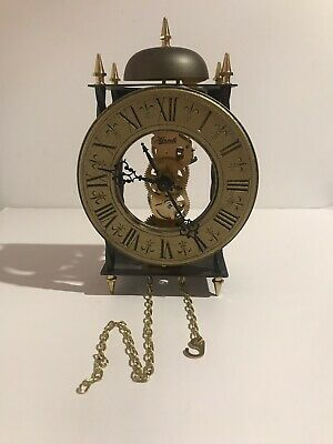 Frank Hermle Tempus Fugit Vintage Skeleton Wall Clock   Made In Germany