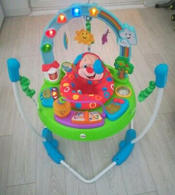 Fisher price jumperoo laugh and learn puppy's bouncer baby toy activity jump