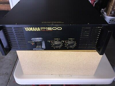 Yamaha P1500 Stereo Power Amplifier Analog amp with manual P 1500