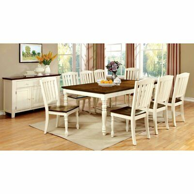 Furniture of America Besette Cottage Dining Table, Cherry, Medium