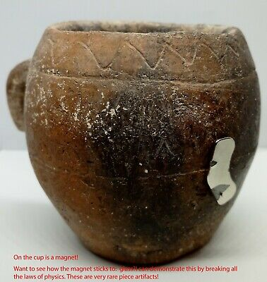 Pottery Cup Stein Griffin / Calendar Koban / Scythian  130mm. 1100-800BC. Clay