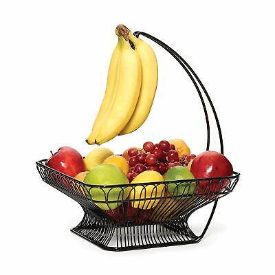 Gourmet Basics by Mikasa 5147846 French Countryside Metal Fruit Basket with Bana
