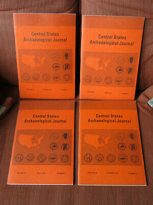 COMPLETE SET OF 4 1977 The Central States Archaeological Journal / BANNERSTONE