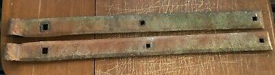"2 Vintage Antique Strap Hinges Barn Door Gate Pair 26 1/2"" Long By 2"" Wide"