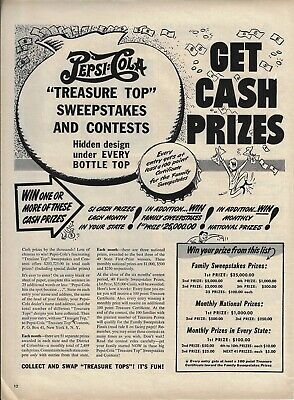 VINTAGE 1948 PEPSI-COLA Pepsi Soda Pop Sweepstakes Contest Cola