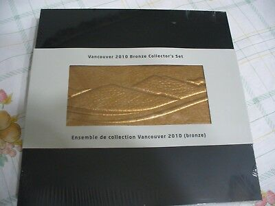 2010 Vancouver  2010 Bronze Collector's Set   50 Cent Coins Mascot Color Stamp