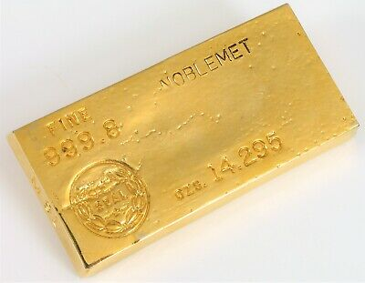 Vintage Ted Arnold Lead Replica Of Fort Knox Kentucky Us Treasury Gold Bar Fine