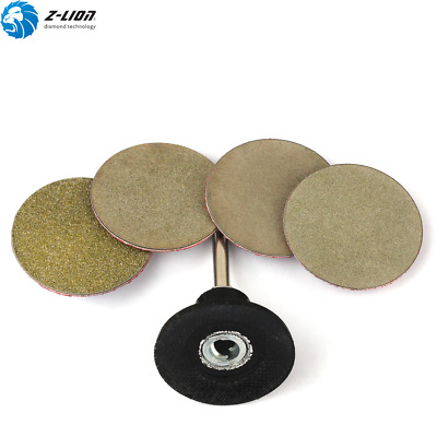 4PCS Roll Lock Abrasive Disc + 2'' Roloc Rotary Pad Holder Black Sanding Disc