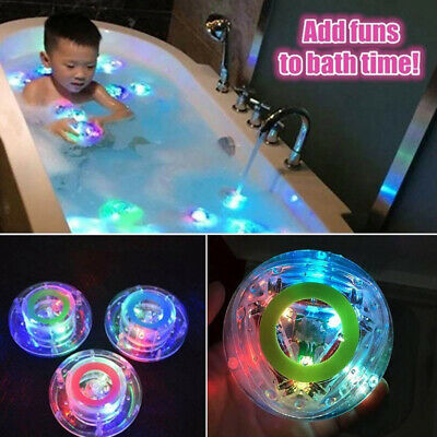 Colorful LED Flashing Light Rubber Floating Ball With Bath Tub Shower Funny Toy