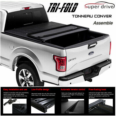 Assemble Soft Lock Tri-Fold Tonneau Cover For 1997-2003 Ford F150 6.5ft Bed