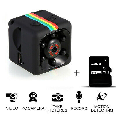 COP CAM New Security Camera Motion Detection 16/ 32GB Card Night Vision Recorder