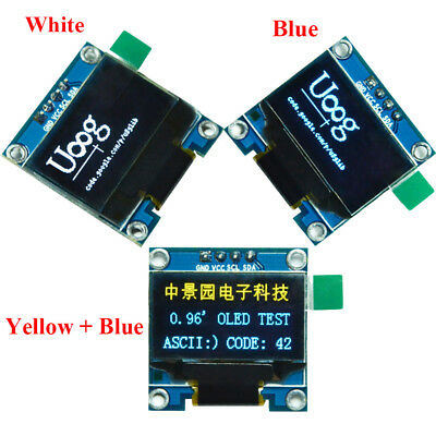 0.96inches I2C IIC Serial 128X64 OLED LCD LED Display Module SSD1306 for Arduino
