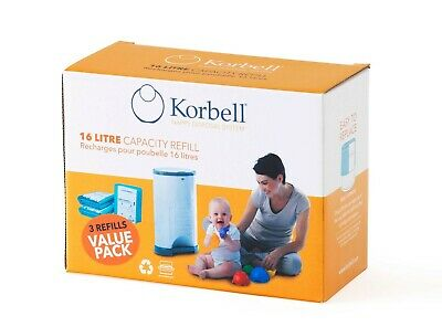 Korbell Nappy Disposal Refill 3 Pack