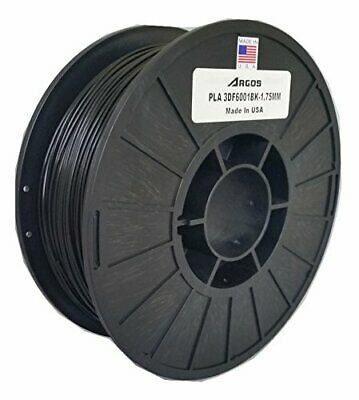 Argos 1.75mm PLA Black MADE IN THE USA  3D Printer Filament - 1kg 2.2lbs Spoo...