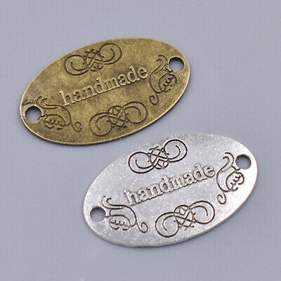 50pcs Handmade Alloy Tags Label Clothes Sewing Handcraft DIY Making Accessories