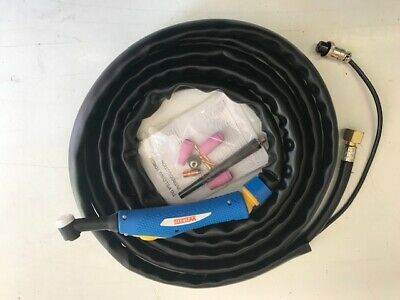 25FOOT WP9F 125AMP FLEXI NECK SWITCHED//SHEATHED TIG TORCH