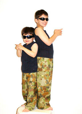 Cargo Pants - Kids - Auscam - Sizes 2- 14
